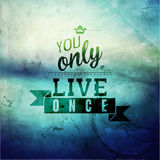 Inspirational and encouraging quote typography Stock Photography