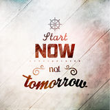 Inspirational and encouraging quote typography Stock Photos