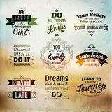 Inspirational and encouraging quote vector design Royalty Free Stock Image