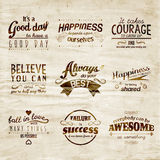 Inspirational and encouraging quote vector design Stock Image