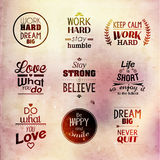 Inspirational and encouraging quote vector design Stock Photography