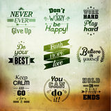 Inspirational and encouraging quote vector design Stock Photo