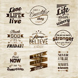 Inspirational and encouraging quote vector design Royalty Free Stock Images