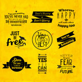 Inspirational and encouraging quote vector design Royalty Free Stock Photography