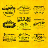 Inspirational and encouraging quote vector design Stock Photos