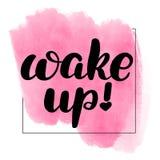 Lettering wake up vector illustration