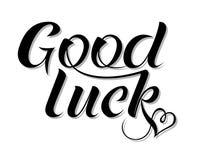 Inspirational handwritten modern style lettering phrase Good Luck. stock illustration