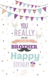 Inspirational happy birthday poster for brother Royalty Free Stock Images