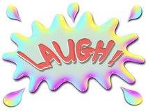 Inspirational illustration series laugh with splash Stock Photo