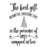 Inspirational Kerstmiscitaat vector illustratie