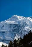 Inspirational Landscape Himalaya Mountains in Nepal. Inspirational Landscape in Himalaya Mountains. Annapurna Himal Range on Annapurna Circuit Trek, Beautiful stock images