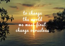 Inspirational life quote stock photography