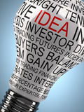Inspirational light bulb Royalty Free Stock Photography