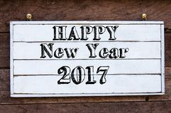 Inspirational message - Happy New Year 2017 Royalty Free Stock Photography