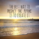 Inspirational motivating quotes on nature background. stock photos