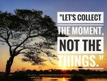 Inspirational motivating quotes on nature background. stock image