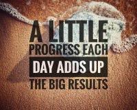 Inspirational motivating quotes on nature background. stock photo