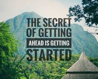 Inspirational motivating quotes on nature background. royalty free stock photography