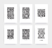 Inspirational motivating quotes set Royalty Free Stock Images