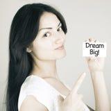 Inspirational Motivational Business Life Phrase Dream Big Royalty Free Stock Photography
