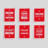 Inspirational motivational quote set Stock Photo