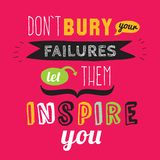 Inspirational and motivational quotes vector Royalty Free Stock Images