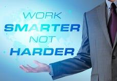 Inspirational motiverend bedrijfcitaat met de bedrijfsmens Het werk s stock afbeelding