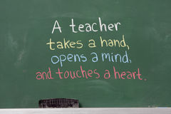 Free Inspirational Phrase For Teacher Appreciation Royalty Free Stock Photography - 25509197