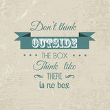Inspirational quote background Royalty Free Stock Photos