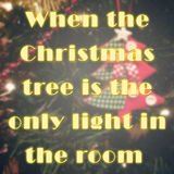 Inspirational quote about christmas tree Royalty Free Stock Images