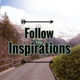 Inspirational quote about inspiration. Inspirational quote `follow your inspirations` on blurred background with vintage filter Royalty Free Stock Images