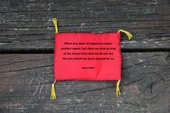 Inspirational quote from Helen Keller