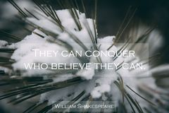 Inspirational quote royalty free stock image
