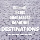 Inspirational quote. Inspirational Motivational quote `difficult roads often lead to beautiful destinations` on blurred background with vintage filter Royalty Free Stock Photography