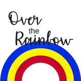 Inspirational Quote:  Somewhere over the Rainbow Royalty Free Stock Photography