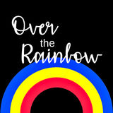 Inspirational Quote:  Somewhere over the Rainbow Stock Photography