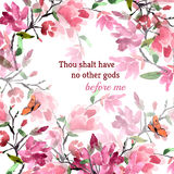 Inspirational Quote Testament of the Bible Stock Image