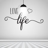 Inspirational quote wall decal Royalty Free Stock Images