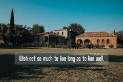 Inspirational quote stock photo
