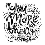 Inspirational quotes for Mental Health Day. Motivational and Inspirational quotes for Mental Health Day. You are more then your illness. Design for print stock illustration