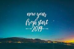 New year, fresh start 2019 royalty free stock photo