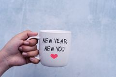 Inspirational quotes New Year New You stock photography