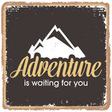 Inspirational quotes in retro style. Life is an adventure concept vector illustration