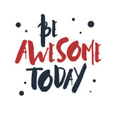 Inspirational red and black vector lettering on white background Stock Image