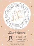 Inspirational romantic and love Save the Date Royalty Free Stock Images