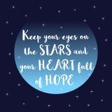 Inspirational romantic quote Stock Photos