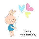 Inspirational romantische en liefdekaart Stock Afbeelding