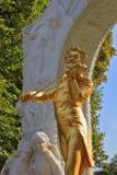 Inspirational sculptural portrait of Johann Strauss. Inspirational sculptural portrait of the King of Waltz - Johann Strauss. Elegant bronze statue with violin Stock Image