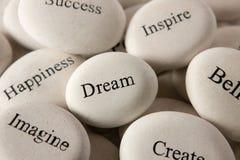 Inspirational stones - Dream Stock Image