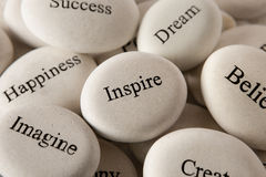 Free Inspirational Stones - Inspire Royalty Free Stock Image - 68747046